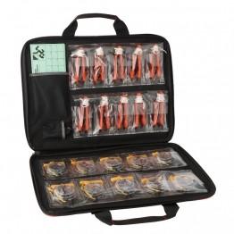 Mallette pour course d'orientation : boussoles, cartons, pinces, cartons de contrôle, sifflet