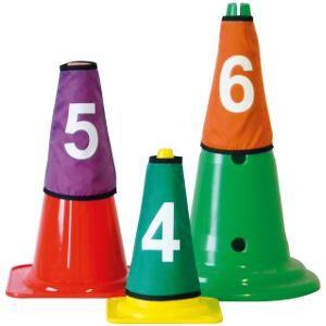 Couvres cônes numérotés de 1 à 10