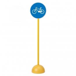 Panneau de signalisation routière piste obligatoire pour vélos enfants scolaires et pas cher.