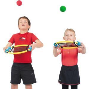 Raquettes élastiques, matériel de jeux de raquettes à acheter pas cher. Lot de  6 raquettes élastiques pour enfants Spordas.