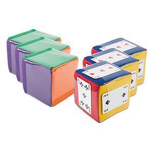 6 mini cubes personnalisables pour écrire dessus à acheter pas cher. Mini cube pour tous les enfants.
