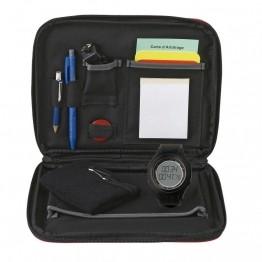 Malette ou kit pour arbitre : montre, stylo, cartons, fiches