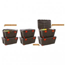 Malle de rangement pour matériel de sport capacité 200 litre à acheter pas cher.Malle de rangement 200 litres pour gros rangements de matériel de sport.