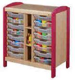 Meuble de rangement à casiers 2 colonnes, mobilier pour petite enfance, assistantes maternelles, RAM à acheter pas cher. Meuble à casiers 2 colonnes de rangement de qualité pour les rangements petite enfance.