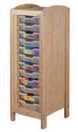 Meuble de rangement à casiers 1 colonne, mobilier pour petite enfance, assistantes maternelles, RAM à acheter pas cher. Meuble à casiers de rangement de qualité pour les rangements petite enfance.