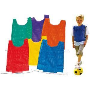 Chasuble pour enfants et adultes tous sports. Trame ajourée.