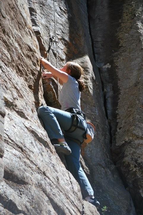 Girl climbing, Mexico