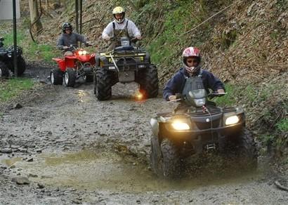 Ruta extrema de cuatrimotos por la cañada, Sierra de Tapalpa