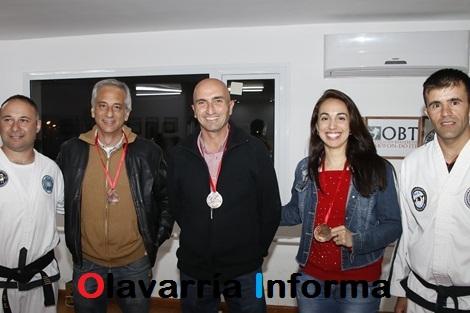 José Eseverri y Eduardo Rodríguez visitaron a taekwondistas olavarrienses campeones sudamericanos