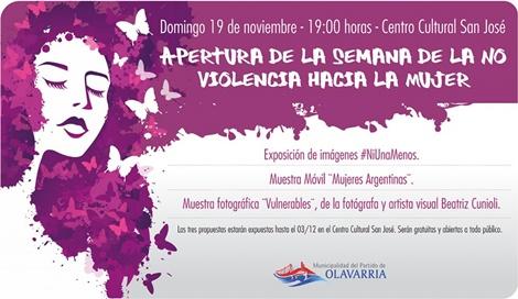 Este domingo inaugura la semana de la No Violencia hacia la mujer