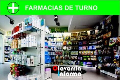 Farmacias de turno del día 25 de octubre