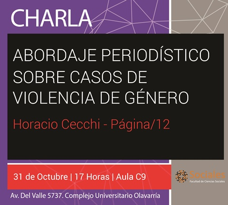 Charla sobre abordaje periodístico de casos de violencia de género
