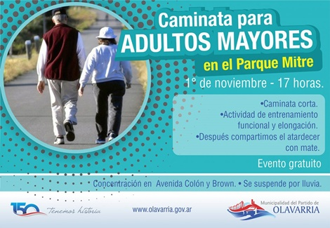 Caminata para adultos mayores
