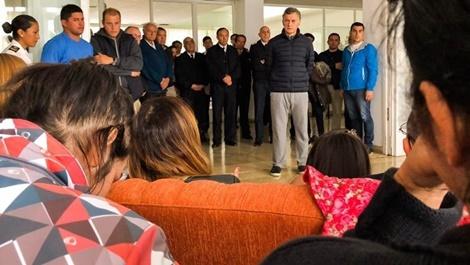 Macri visitó a los familiares de la tripulación del submarino