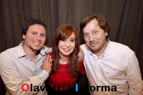 Aguilera y Santellán juntos en un acto con Cristina Kirchner