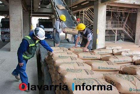 Los despachos de cemento aumentaron 12,4%