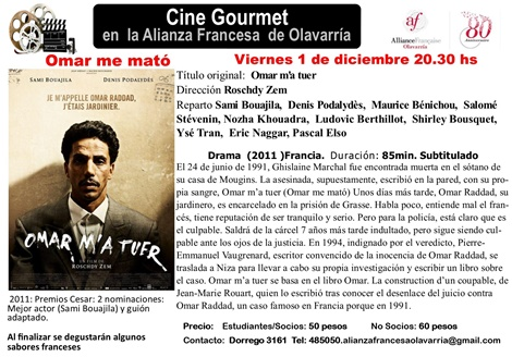 Cine gourmet en la Alianza Francesa de Olavarría