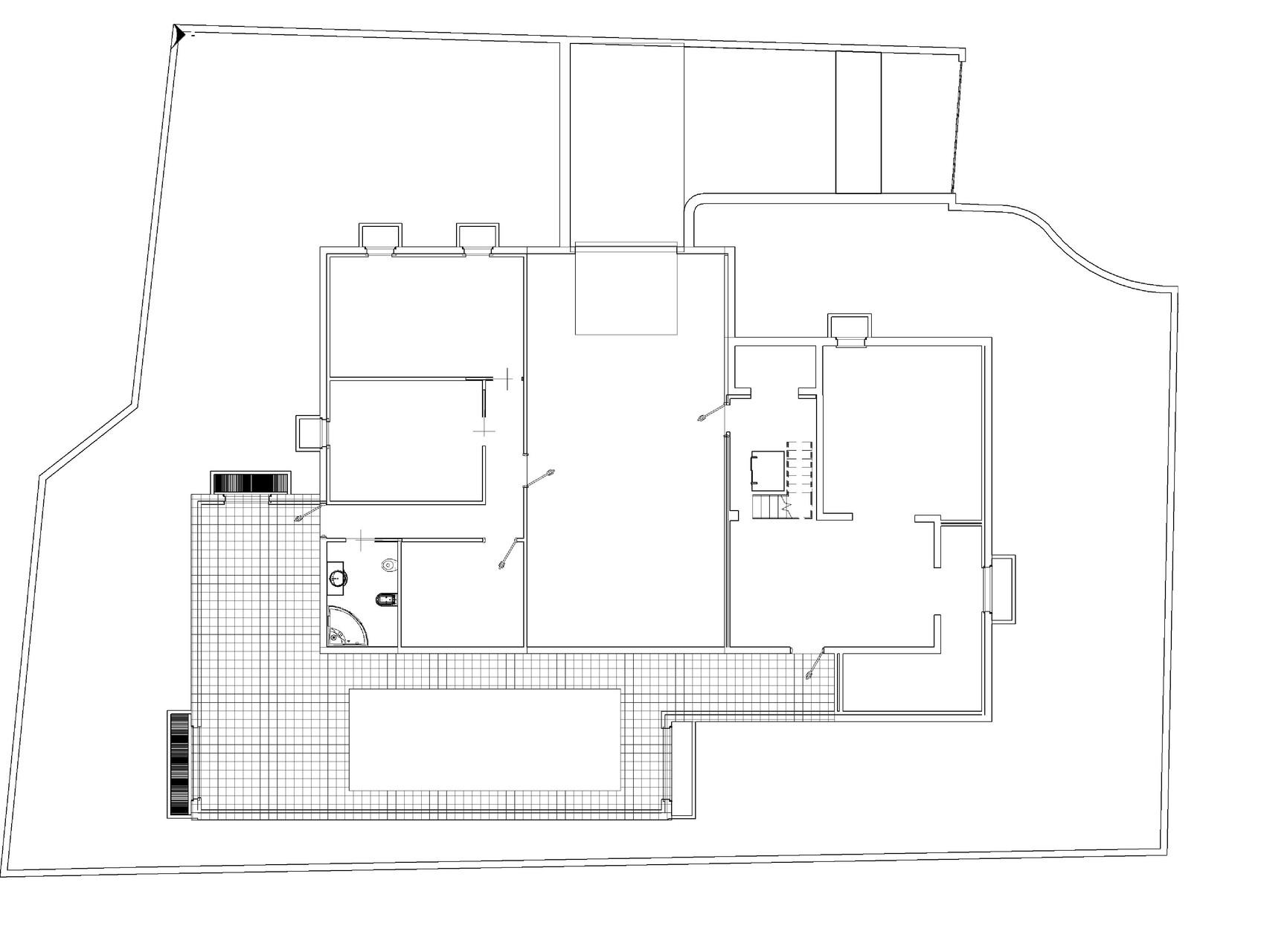 Pianta garage e taverna