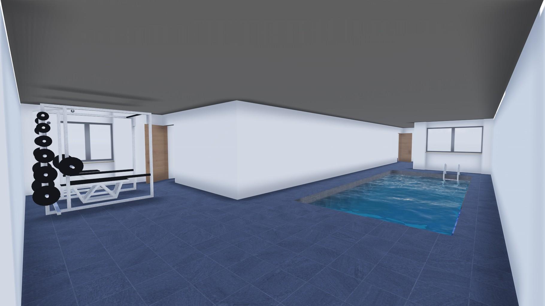 Taverna con palestra e piscina