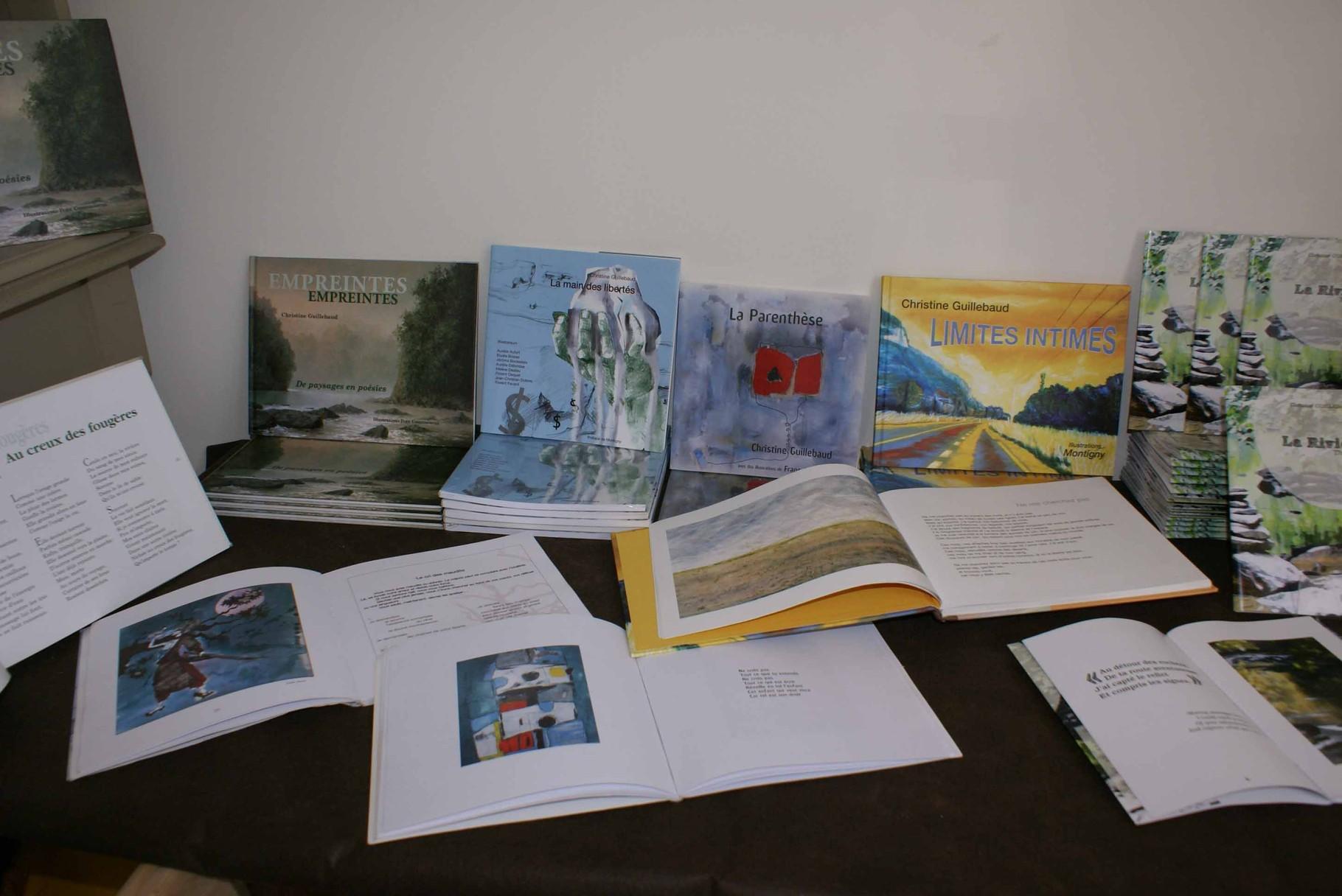 Recueils de poésie illustrée de Christine Guillebaud