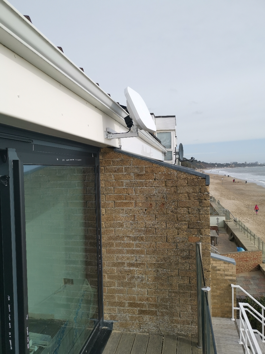 Discreet weatherproof dishes available for Sky or freesat installations