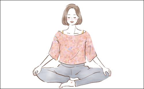 腰痛で悩む女性のイラストを描きました。ホットペッパービューティ9月号挿絵