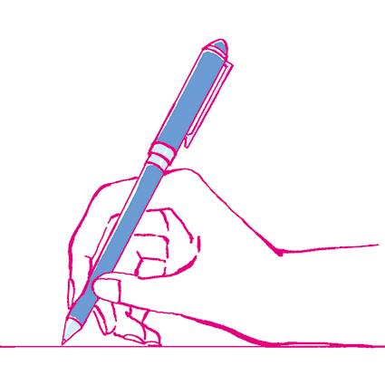 ペン 持ち方 イラスト