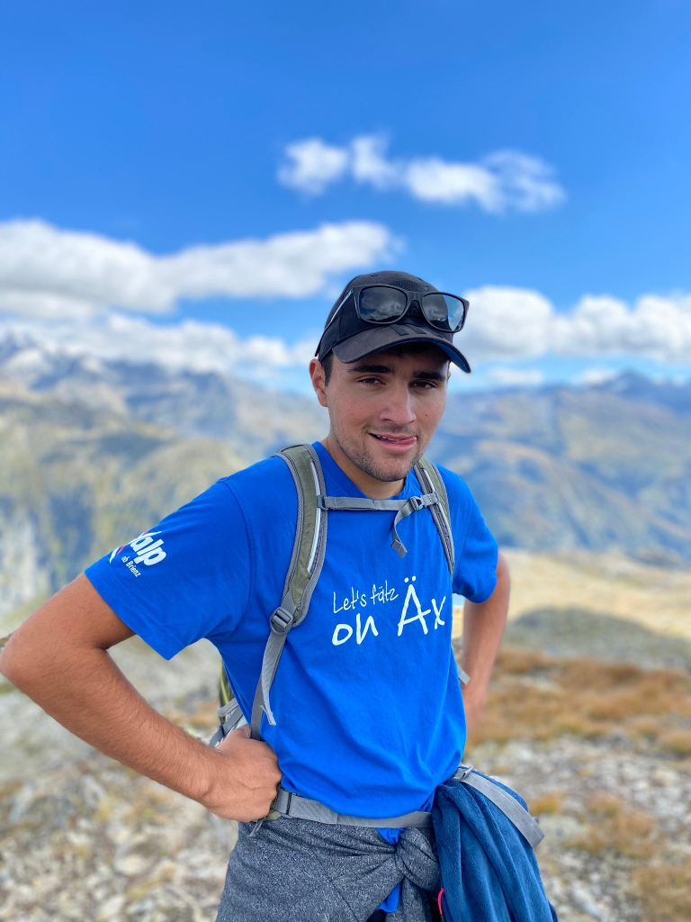 Simon Michel OK Lets fätz on Äx, Skifahrer