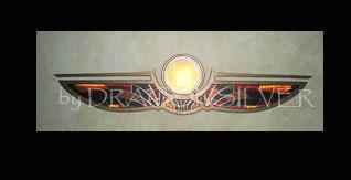Wandlampe ISIS, 150cm Lang