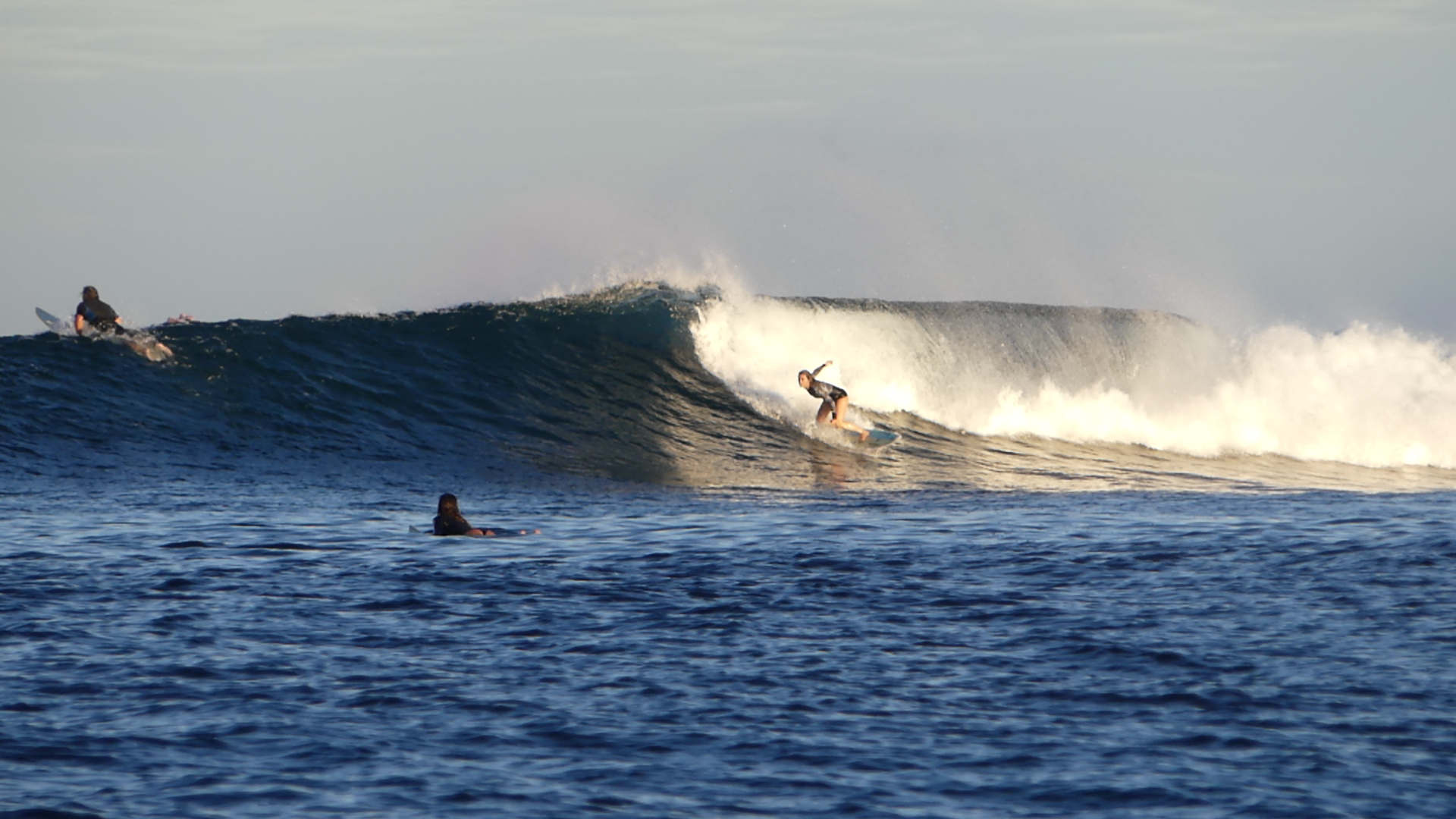 Leonor working on a variety of bottom turns
