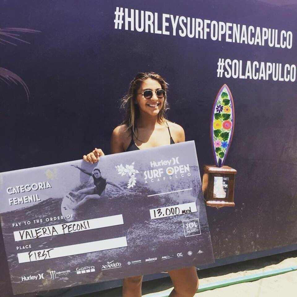 VALERIA PECONI WINS HURLEY SURF OPEN ACAPULCO
