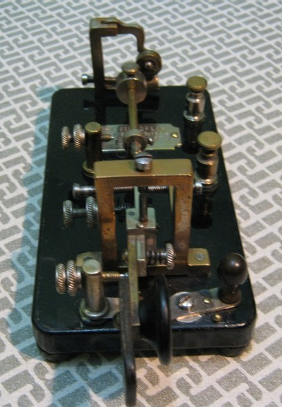 Martin Vibroplex 1905 _ see the consumed Fingherpieces by the use
