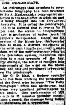 Pendograph Article 1920