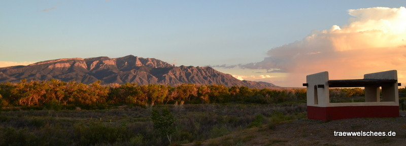 Abendstimmung an den Sandia Mountains