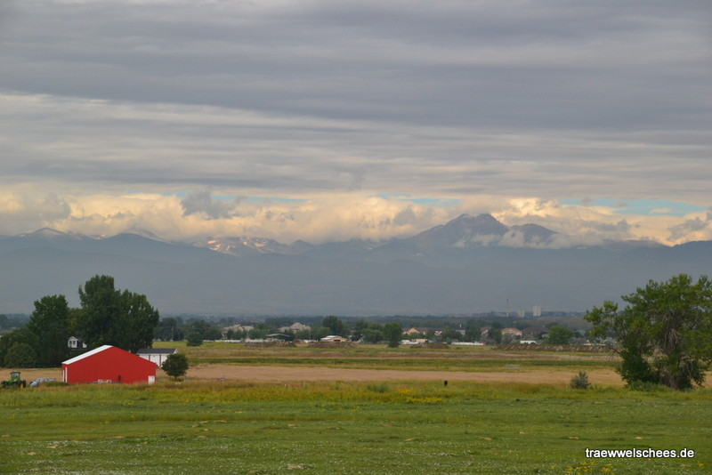 Die Rocky Mountains bei Longmont