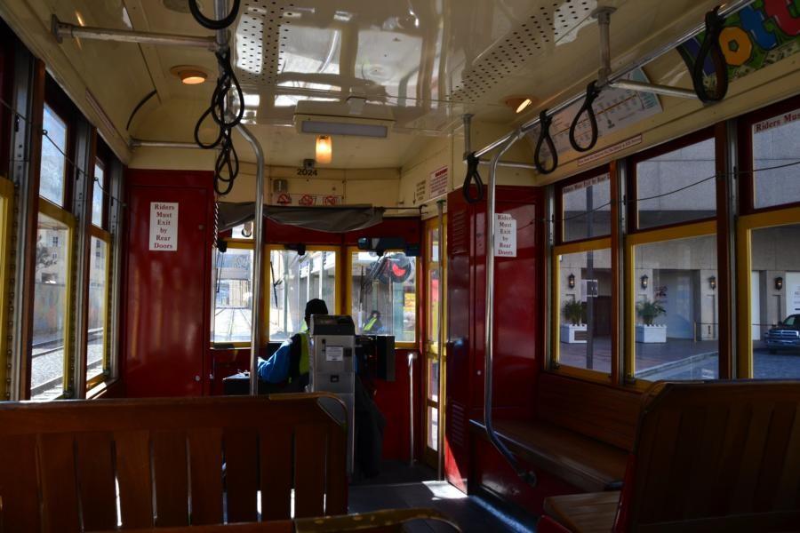 New Orleans: Im Inneren der Strassenbahn