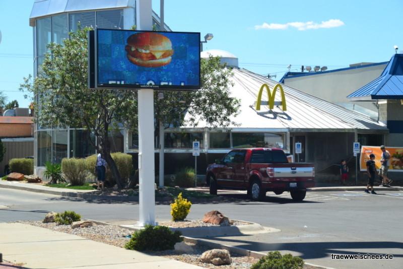 McDonalds-Filiale im UFO-Stil