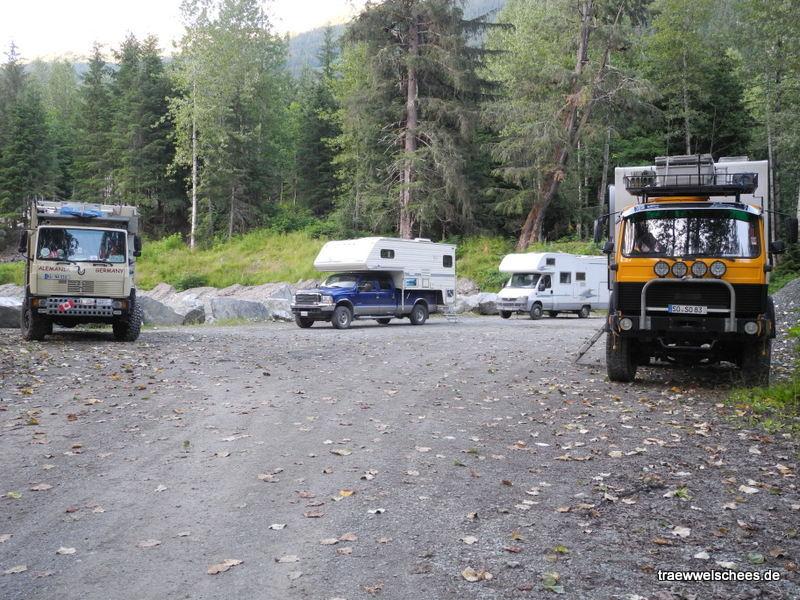 Stellplatz in der Nähe der Bären