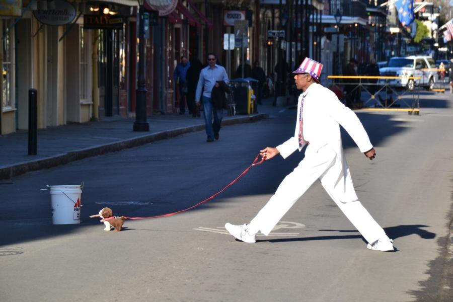 New Orleans: Klasse Pantomime