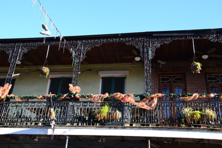 New Orleans: Typische Häuserfront...