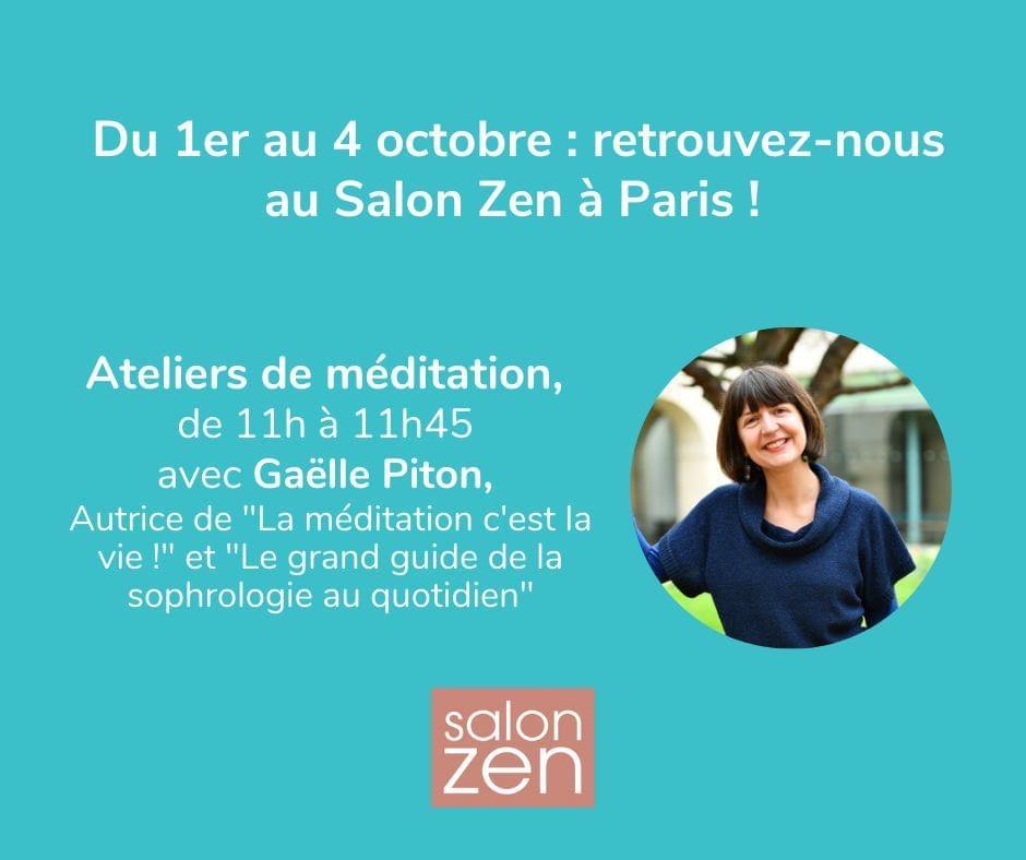 Gaëlle Piton est l'invitée du Salon Zen de Paris en partenariat avec Petit Bambou