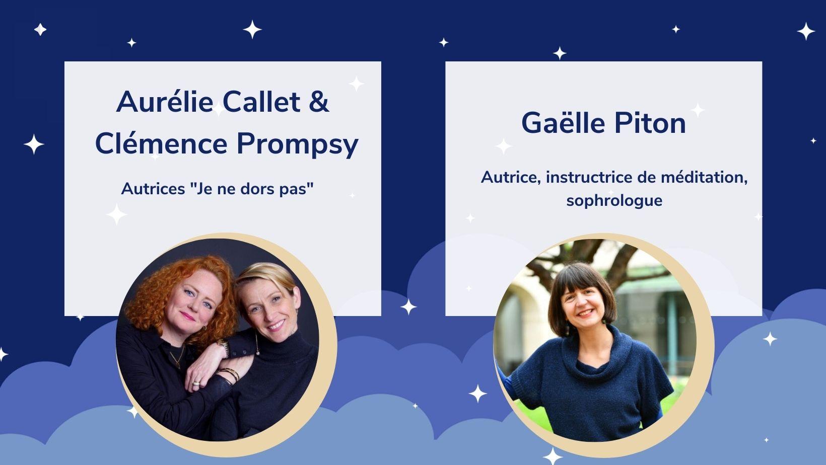 Gaëlle Piton est l'invitée des soirées Happyjamas en partenariat avec Petit Bambou et Psychologies Magazine