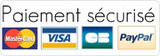 Le paiement par carte bancaire, Visa ou Mastercard est assuré par PayPal.  Nul besoin d'avoir un compte paypal pour utiliser ce service !
