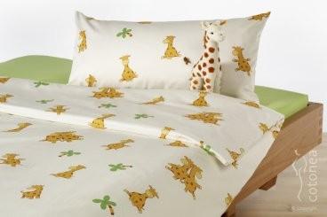 Linge de lit bio lunaviolette e boutique - Housse de couette girafe ...