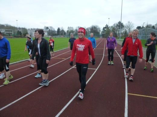 Training mit der LG Bad Waldseer Lauffieber