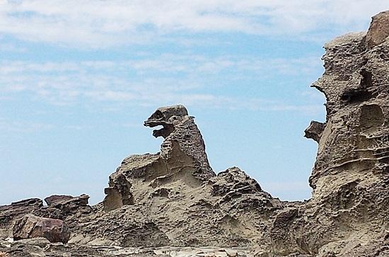 ゴジラ岩・・・です