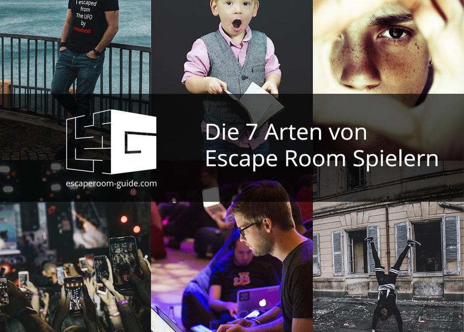Die 7 Arten der Escape-Room-Spielern