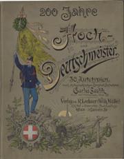 """Bucheinband und Titelblatt """"200 Jahre Hoch- und Deutschmeister"""""""