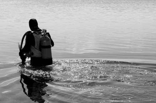 Tauchgang am Helenesee
