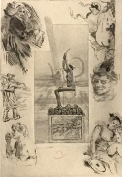 Rops – La lyre – frontispice pour les poésies de Stéphane Mallarmé